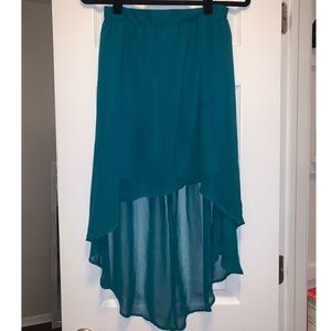 High Low Teal Skirt